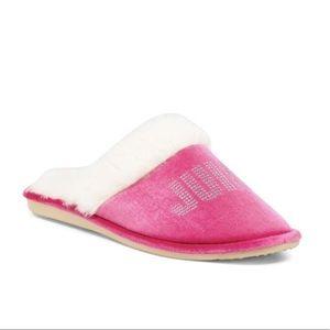NWT Juicy Velvet Crystal Logo Slippers